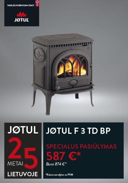JØTUL F 3 TD BP krosnelės