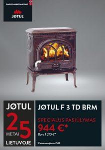 JØTUL F 3 TD BRM krosnelės akcija