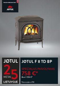 JØTUL F 8 TD BP krosnelės akcija