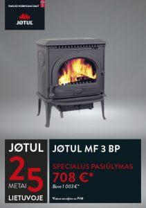 JØTUL MF 3 BP krosnelės akcija